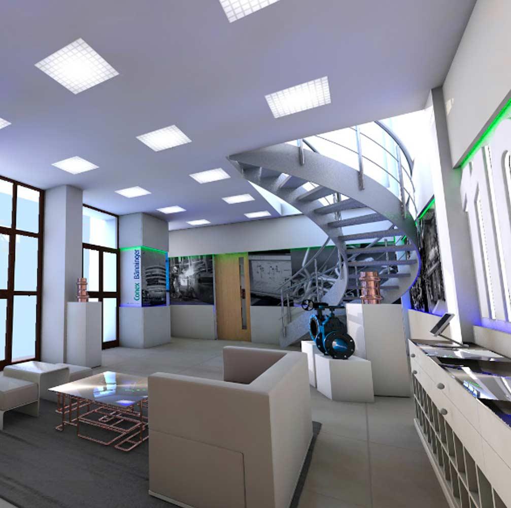 3d CGI build for interior design Burton on Trent