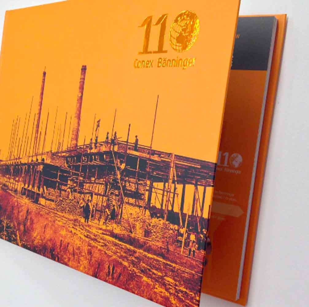 Book design for commemoration in Burton on Trent