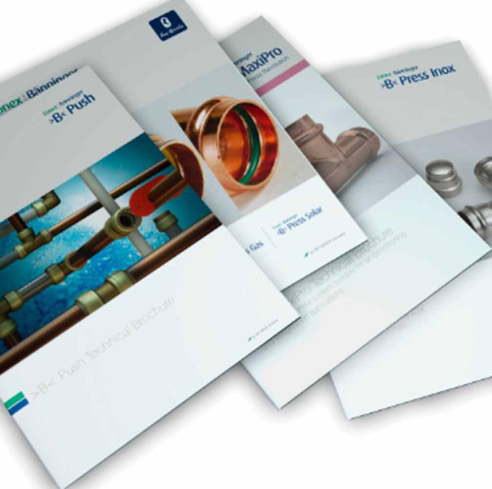Conex Banninger brochure design Burton on Trent