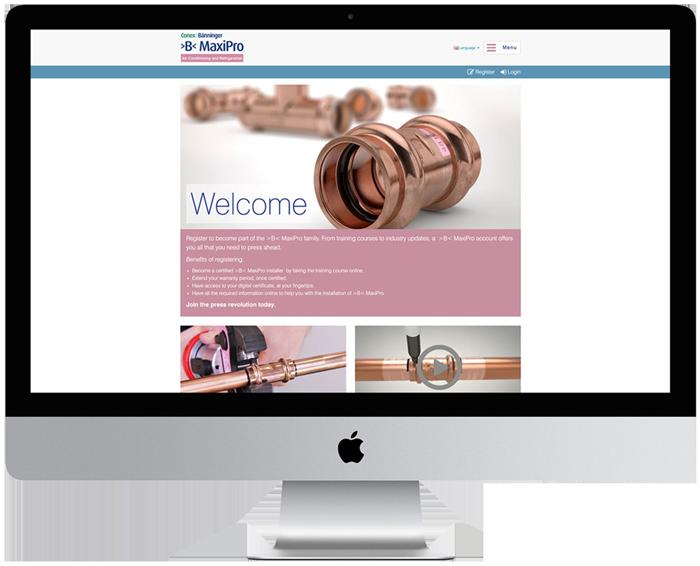 Conex Banninger training website designed in Burton on trent