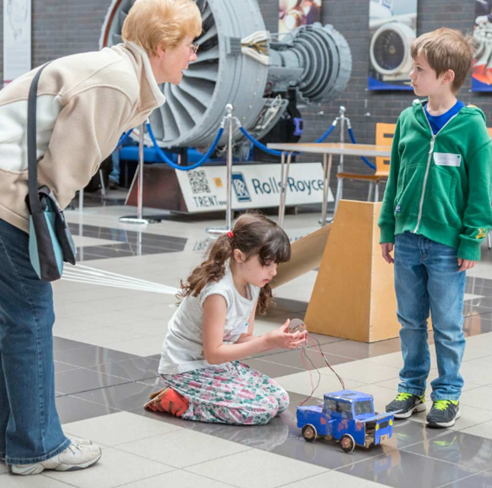 FAMILY for Rolls Royce display Burton on Trent
