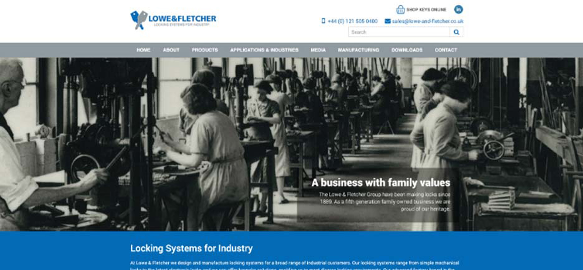 Factory image for website in Burton on Trent