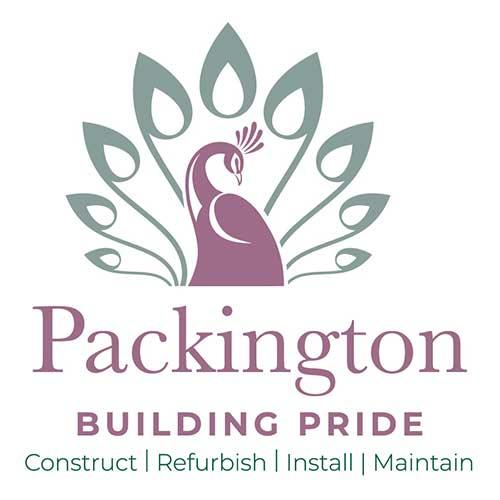 Packington logo in construction design in burton on trent