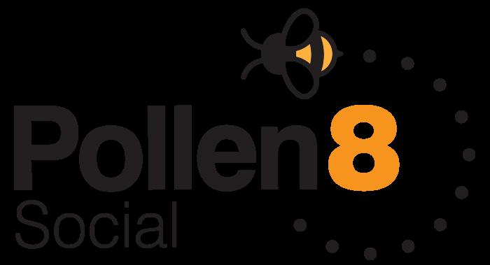Social media logo Pollen 8 designed in Burton on Trent