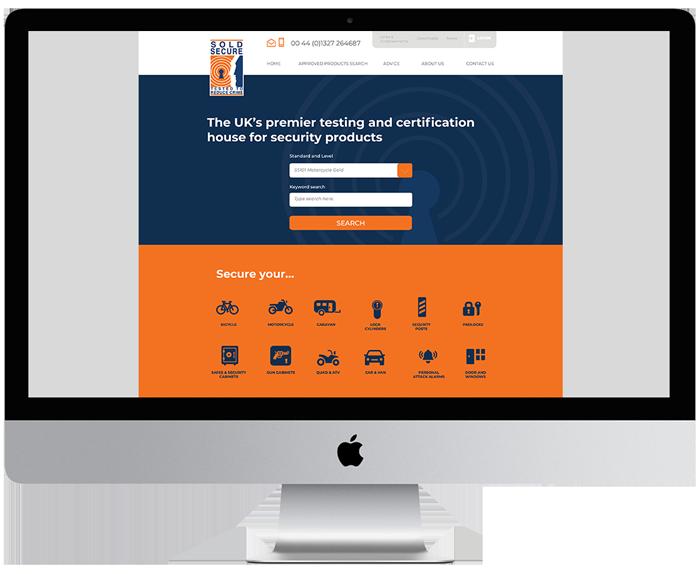 Sold Secure database management site designed in Burton on trent