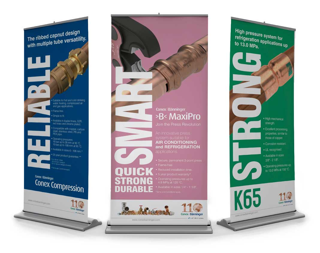 Graphic design for roller banners Burton on Trent 1
