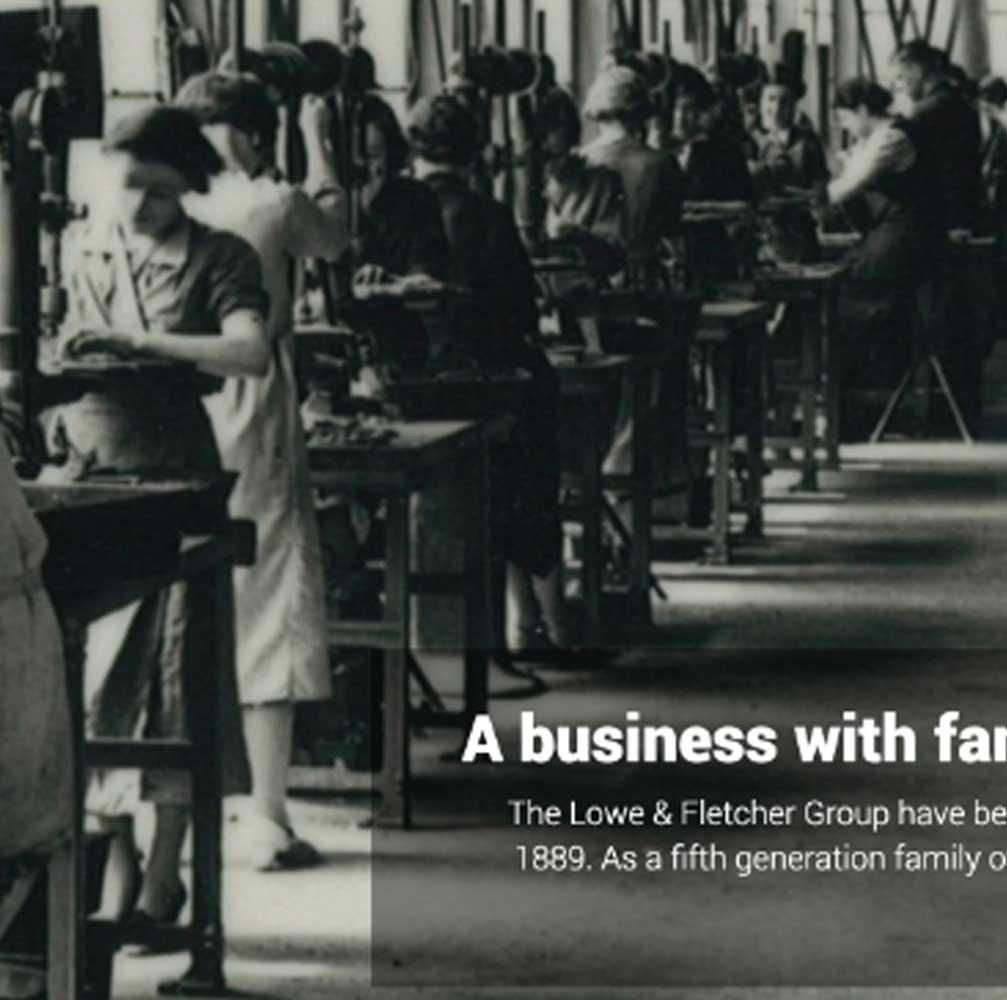 lowe Fletcher Factory web design Burton on Trent